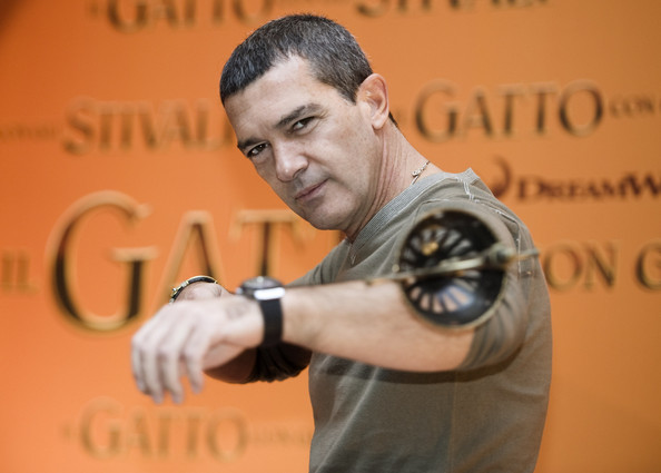 "Antonio Banderas attends the ""Puss in Boots"" photocall in Rome. (Nov. 25, 2011)"
