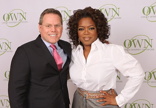 Discovery CEO David Zaslav and Oprah Winfrey
