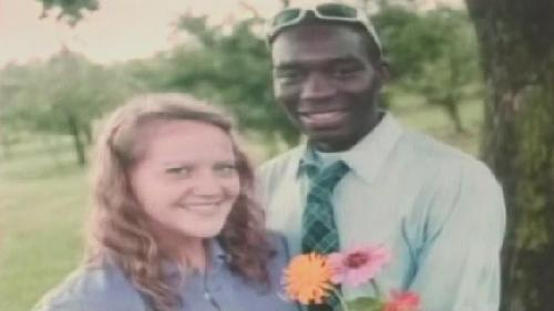 Stella Harville, 24, and her fiance' Ticha Chikuni, were banned by a vote Sunday, November 29, 2011, from worship participation and/or membership in Gulnare Free Will Baptist Church in Kentucky for being an interracial couple.