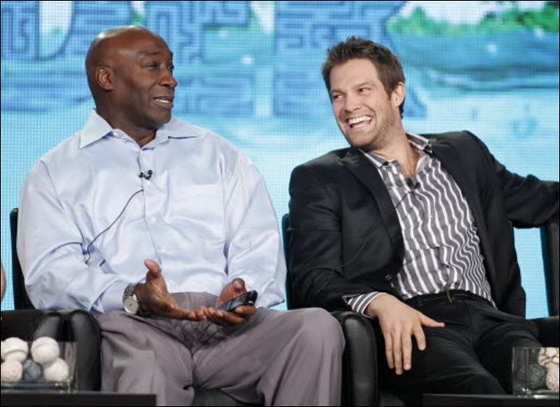 Michael Clark Duncan and Geoff Stults