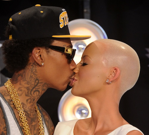 Wiz Khalifa, Amber Rose arrive at the 2011 MTV Video Music Awards at Nokia Theatre L.A. LIVE on Aug. 28, 2011 in Los Angeles