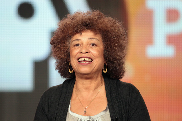 Author/activist Angela Davis speaks onstage during the Independent Lens Examines Black History Month panel during the PBS portion of the 2012 Winter TCA Tour at The Langham Huntington Hotel and Spa on Jan. 5, 2012 in Pasadena