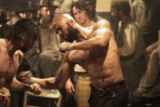 "Common in a scene from AMC's ""Hell on Wheels"""