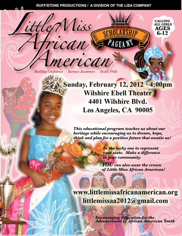 little miss african american poster