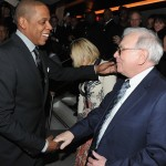Jay-Z Glows at 40/40 Re-Opening; Warren Buffet Even Showed Up