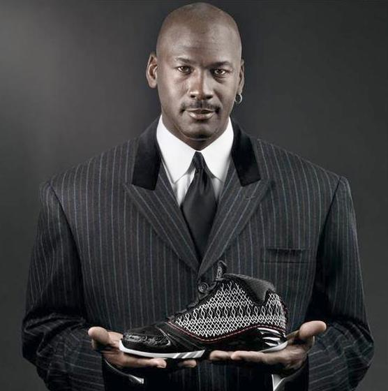 michael jordan (with air jordan shoe)