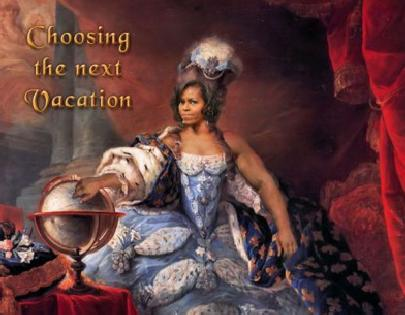 michelle obama (as marie antoinette)