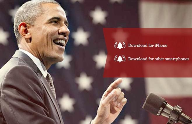 obama ringtone page