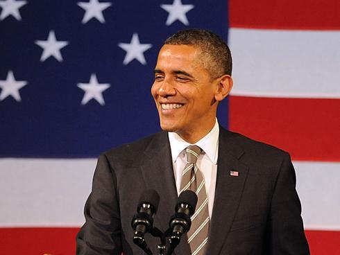 president obama sings