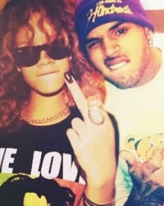 rihanna & chris brown (& the finger)