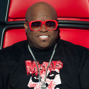 "Cee Lo Green in his big red chair on NBC's ""The Voice"""