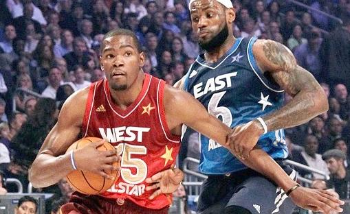 kevin durant & lebron james