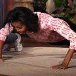 Video: Michelle Obama Does Push-Ups During 'Ellen' Visit