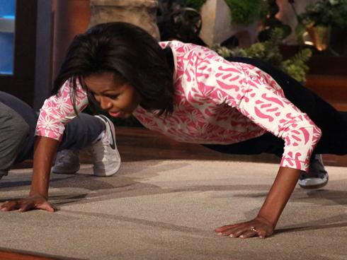 michelle obama pushups