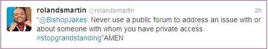 roland martin (td jakes)  re-tweet