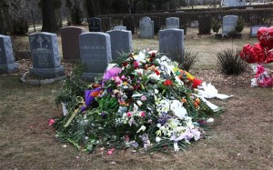 whitney houston burial site grave