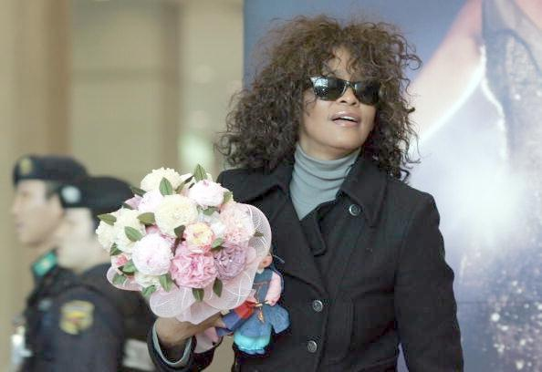 whitney houston & flowers