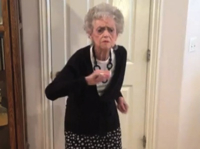 whitney houston dancing grandma