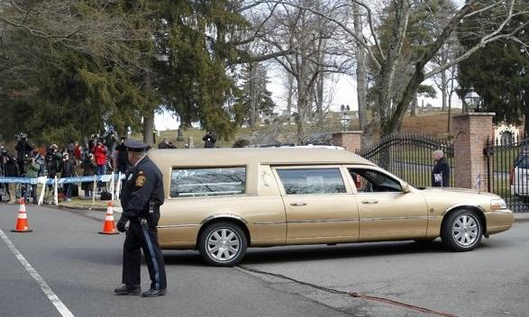 whitney houston hearse
