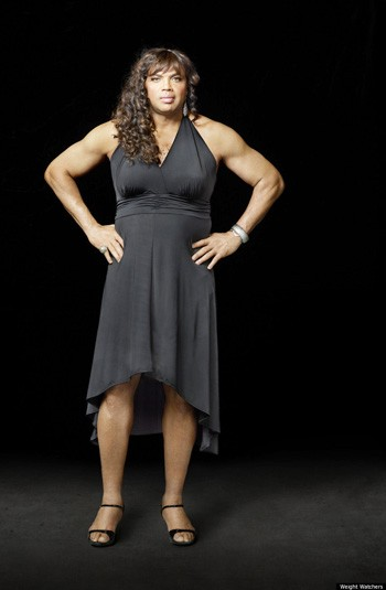 Charles Barkley (in a dress for weight watchers)