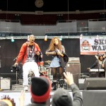 SK8 Wars co-hosts; Darris Love and Asia Shabazz