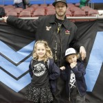 Rick Thorne of Rick Thorne and The Good Guys in Black ~  with his children