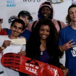 SK8 Wars co-host, Asia Shabazz (center) and winners Carlos Lastia (left) Justin Smolenski, (right) Jordan Maxham