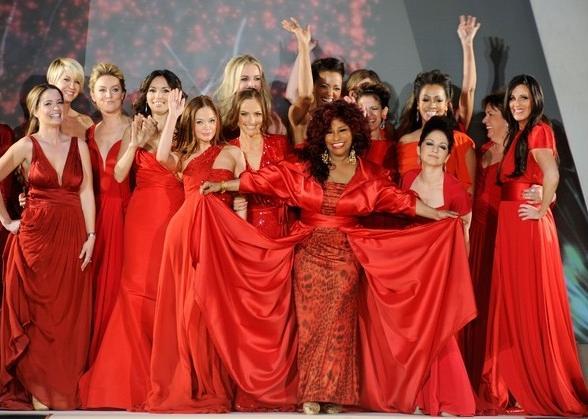 chaka khan & red dress