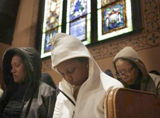 hoodies at church