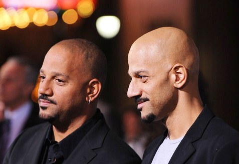 """Directors Albert Hughes and Allen Hughes arrive at the premiere Of Warner Bros. """"The Book Of Eli"""" at Grauman's Chinese Theater on Jan. 11, 2010 in Hollywood"""