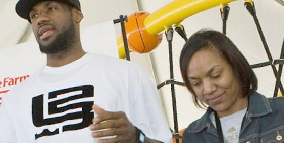 lebron james & gloria james