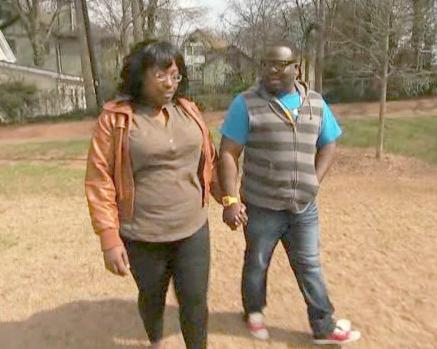black couple walking