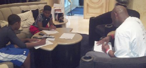 deion sanders & sons (filling out police report on pilar)