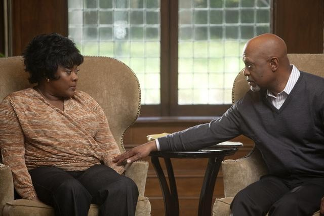 "GREY'S ANATOMY - Loretta Devine and James Pickens Jr. in ""The Girl with No Name,"" premiering Thursday, April 19 (9:00-10:01 p.m., ET)"