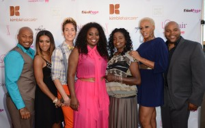 "Dontay Savoy, Angela Christine Stevens, Anthony Pazos, KIm Kimble, Jasmine Kimble, China, Terry Hunt  attend WE tv's launch party for Kim Kimble's new reality series ""LA Hair"" at Kimble Hair Studio on May 29, 2012 in West Hollywood, California. (Photo by Wise/PictureGroup)"