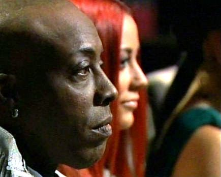 "Arsenio Hall and Aubrey O'Day in the boardroom on NBC's ""Celebrity Apprentice"""