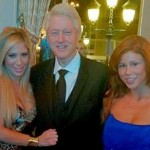 Victim or Willing Participant? Bill Clinton Takes Picture with Porn Babes