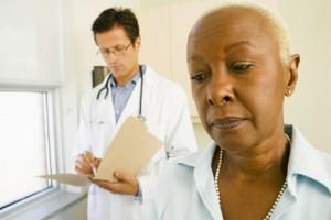 black patient & doctor