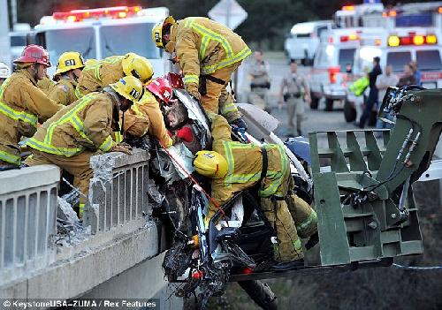 car crash truck ram
