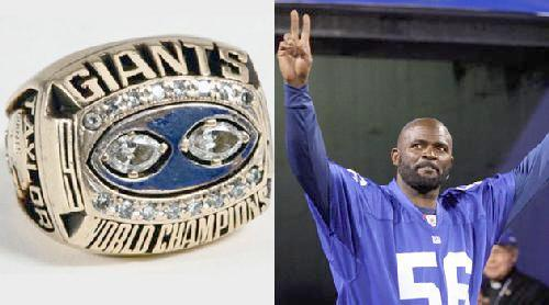 lawrence taylor & super bowl ring
