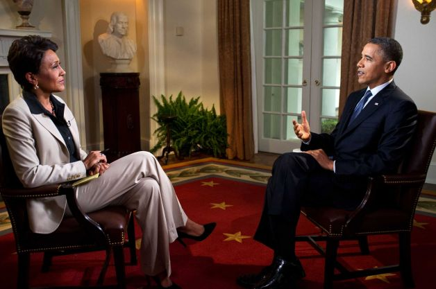 obama & robin roberts