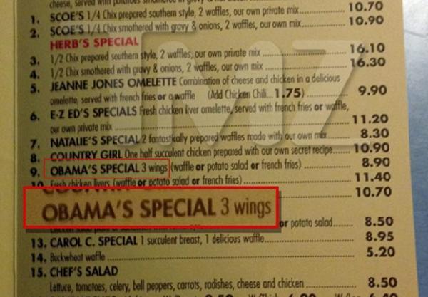 obamas special (at roscoes)