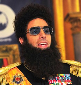 sacha baron cohen dictator press conference closeup