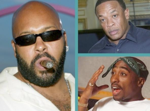 suge knight & dr dre & tupac