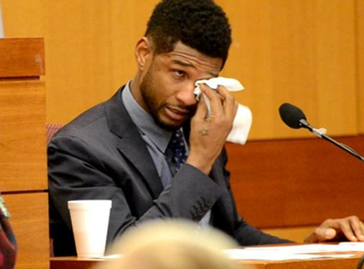 usher crying in court