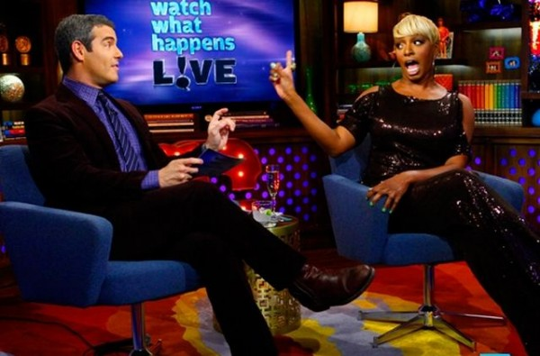 "Andy Cohen of Bravo's ""Watch What Happens Live"" with guest NeNe Leakes"