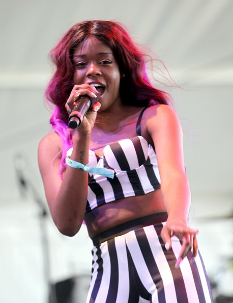 Rapper/singer Azealia Banks performs onstage during day 2 of the 2012 Coachella Valley Music & Arts Festival at the Empire Polo Field on April 14, 2012 in Indio, California
