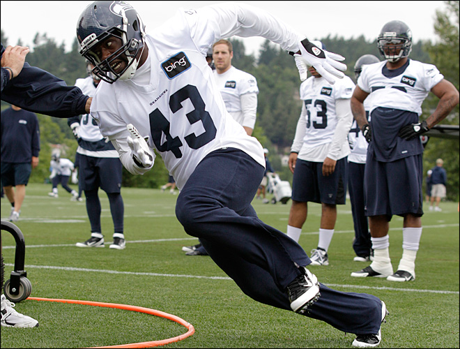 Brian Banks at Seattle Seahawks camp