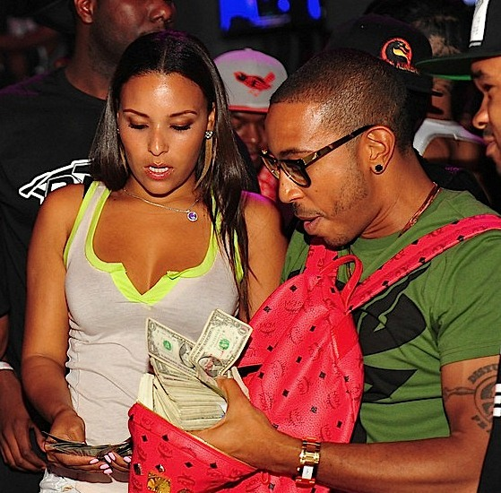 Ludacris with his girlfriend Eudoxie Agnan at Diamonds in Atlanta, June 14, 2012