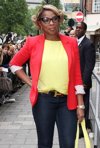 &B singer Mary J. Blige arriving to the BBC Radio 1 Studios in London. (June 13, 2012)